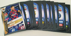 2020-Match-Attax-101-Soccer-Cards-Lot-of-20-cards-inc-Messi-Team-of-Season