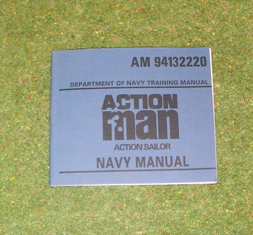 BLUE NAVY MANUAL 94132220 VINTAGE ACTION MAN 40th OFFICIAL EQUIPMENT MANUAL
