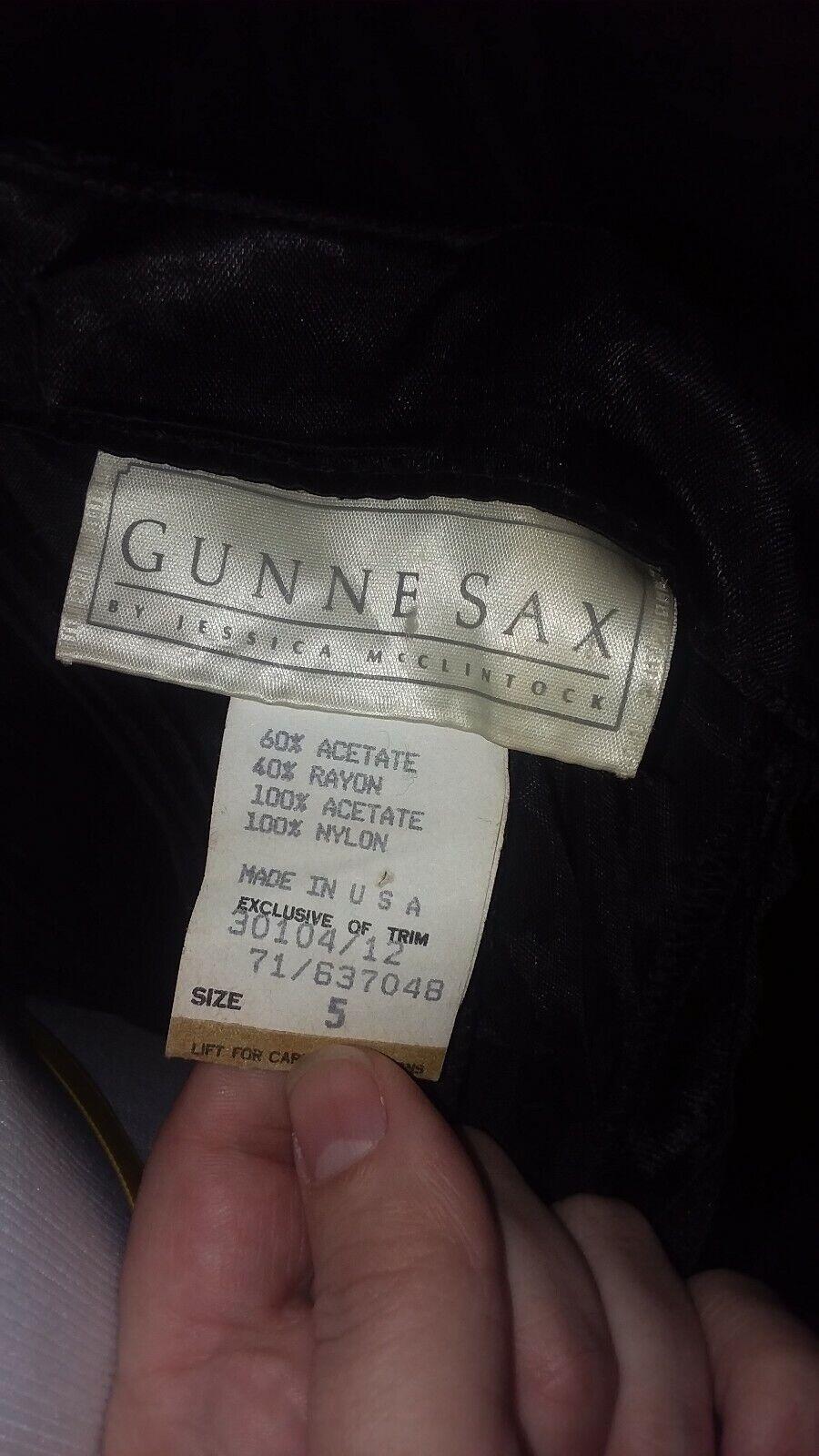Vtg 70s Jessica McClintock Gunne Sax Strapless Pu… - image 5