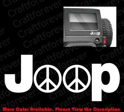 PEACE JEEP WRANGLER LOGO Car Window//Bumper//Vinyl Decal//Sticker//Rubicon JW008