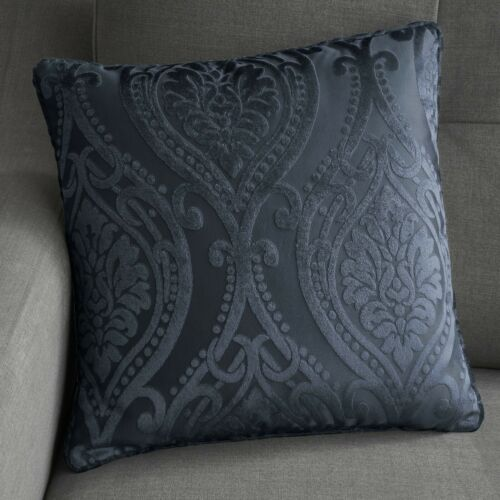 """Curtina Luxury /""""Chateau/"""" Damask Print Fully Lined Eyelet Curtains Navy"""