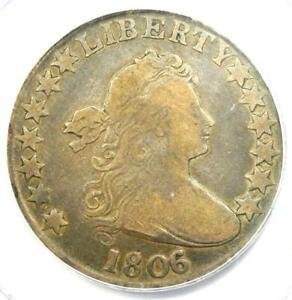 1806/5 Draped Bust Half Dollar 50C Coin - PCGS Genuine - Fine / VF Details!