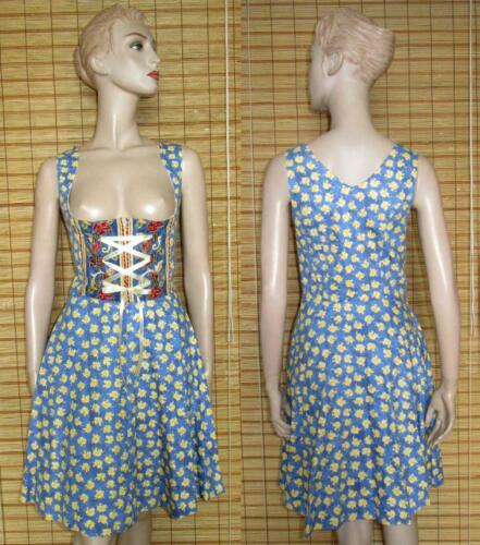 36 Cotton Like Stockerpoint Blue New Patterned Gr Dirndl Balcony 6xZw8qz