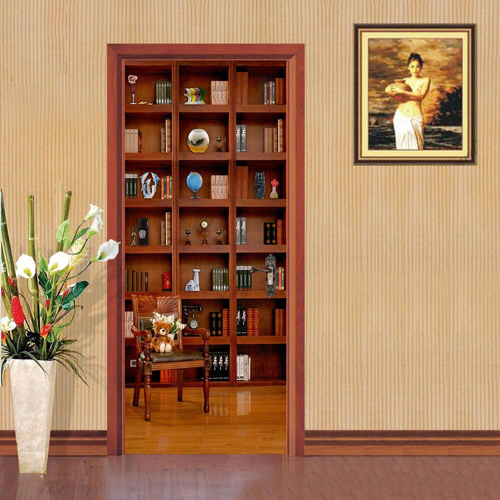 3D Bücherregal 80 Tür Wandmalerei Wandaufkleber Aufkleber AJ WALLPAPER DE Kyra