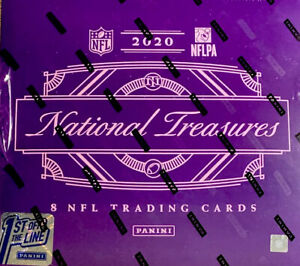 2020 Panini National Treasures Football FOTL First Off The Line Sealed Hobby Box