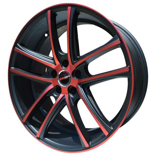 4 GWG Wheels 18 Inch Black Machined ZERO Rims Fits 5x114.3