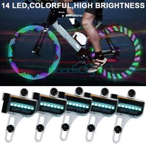 30 LED Patterns Cycling Bikes Bicycles Rainbow Wheel Signal Tire Spoke Light