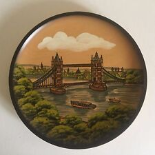 VINTAGE LONDON HANDCRAFTED WOODEN PFAFF COLLECTORS PLATE MADE IN WEST GERMANY