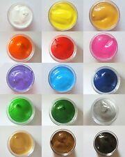 New Nail Art Set XL Acryl Farben 15 versch. Farben für One Stroke Blumen Malerei