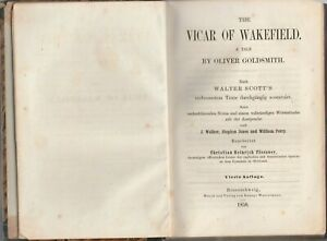 Antique-Book-The-Vicar-of-Wakefield-Braunschweig-1850-after-Walter-Scotts