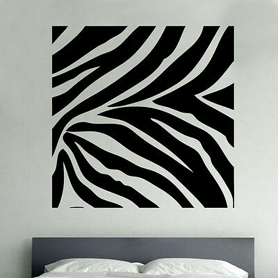 Zebra Animal Print Decal Vinyl Wall Sticker Art Wildlife Décor Room SD20
