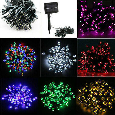 100/200 LED multi-color Solar String Light Wedding Christmas Xmas Party waterpro