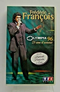 ANCIENNE K7 CASSETTE VHS FREDERIC FRANCOIS MAGNETOSCOPE  AUDIO DISQUE VYNILE CD