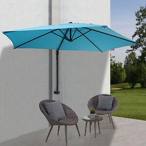 parasol mural casoria parasol d port pour le balcon 3m inclinable turquoise ebay. Black Bedroom Furniture Sets. Home Design Ideas