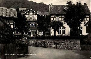 Altenbrak-im-Harz-DDR-s-w-AK-1961-gelaufen-Dorfpartie-mit-Hotel-Brauner-Hirsch