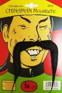 Les Adultes Maître Kung-fu Chine-homme Moustache Accessoire Robe Fantaisie-afficher Le Titre D'origine