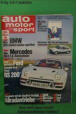 AMS Auto Motor Sport 19/85 * Ford RS 200 BMW 325i DB 190E 2.6 Mazda MX3