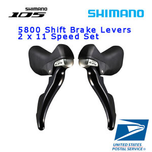 SHIMANO-105-ST-5800-2x11-Speed-Shifter-Brake-Lever-Set-L-R-Road-Bike-Black