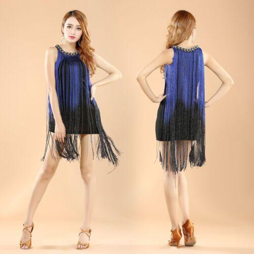 Latin Tassel Dress Skirt 1920S Gatsby Vintage Dress Party Fancy Dress Carnival