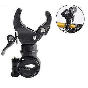 Cycling-Bicycle-Led-Flashlight-Holder-Front-light-Mount-Clip-Torch-Bracket-BHQ