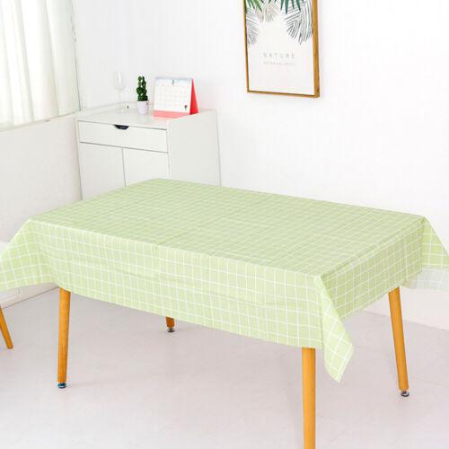 Multiple Specifications Optional Lattice Waterproof PVC Table Cloth