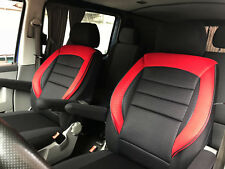 Sitzbezüge Schonbezüge VW T5 T6 California Beach Coast Einzelsitze schwarz-rot