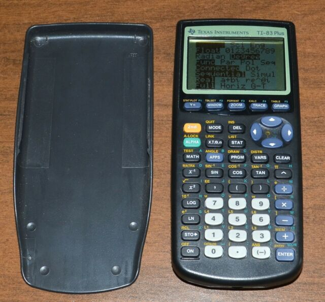 Texas Instruments TI-83 Plus Graphing Calculator With Protective Cover - Tested