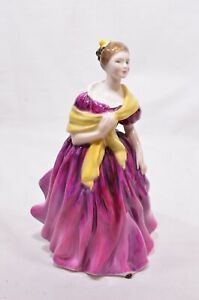 Royal-Doulton-Figure-Adrienne-1963-Lady-in-Pink-Dress-HN2152