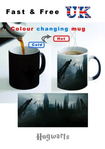 Harry potter poudlard school sorcière dark castle cadeau tasse à café couleur changeante