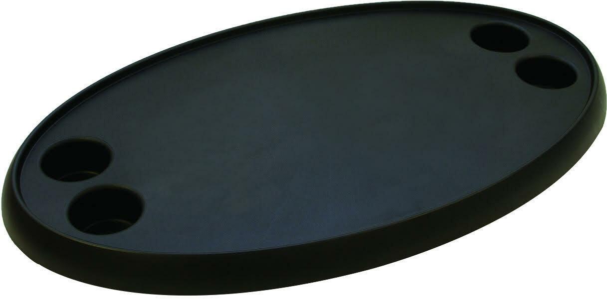 189000-TOBK  Tischplatte Kunststoff, oval 76x46cm, schwarz, für Stiefel   Wohnmobil