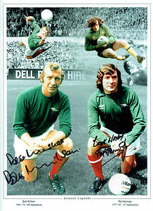 Pat-JENNINGS-amp-Bob-WILSON-Signed-Autograph-ARSENAL-Montage-16x12-Photo-AFTAL-COA