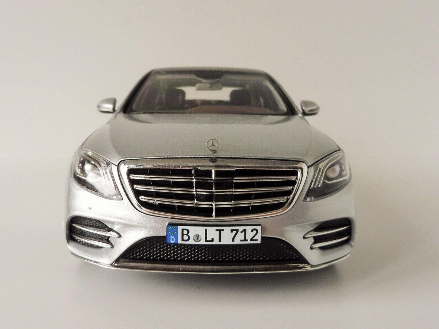MERCEDES BENZ CLASE S AMG 2018 argento 118 Norev 183479 CLASE S Mercedes 222