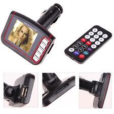 "1.8"" Wireless LCD Car Auto FM Transmitter MP3 MP4 Music Player USB MMC SD Remote"