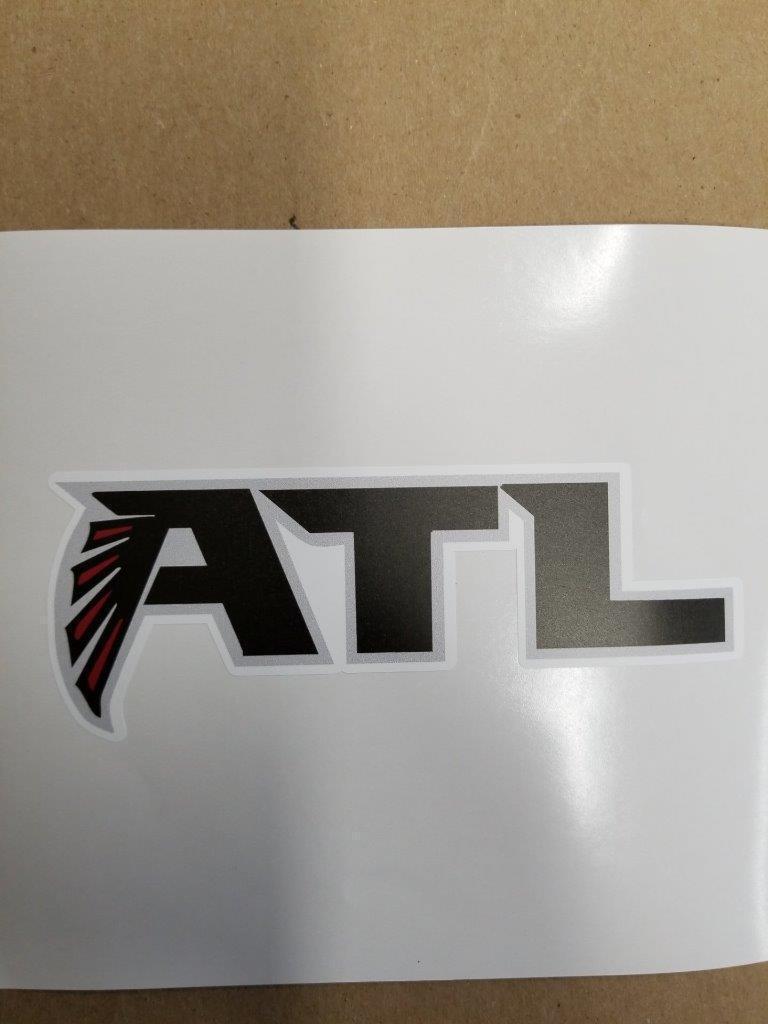 Atlanta Falcons cornhole board or vehicle decal(s)AF1