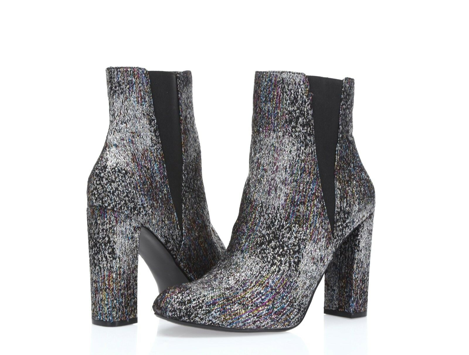 Steve Madden Effect Women's black glitter block heel booties sz. 7 M