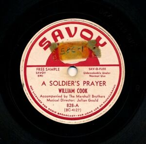 WILLIAM-COOK-on-1951-Savoy-828-Promo-A-Soldier-039-s-Prayer-Just-Because