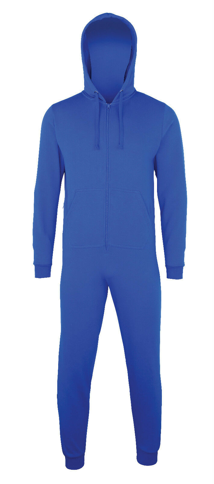 Ladies Mens Comfy Co CC001  Hood Zip Up All In One Jumpsuit Sizes XS-2XL