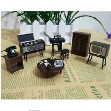 6pcs//set Doll House Miniature  Japanese Vintage Mini Furniture DIY Accessories