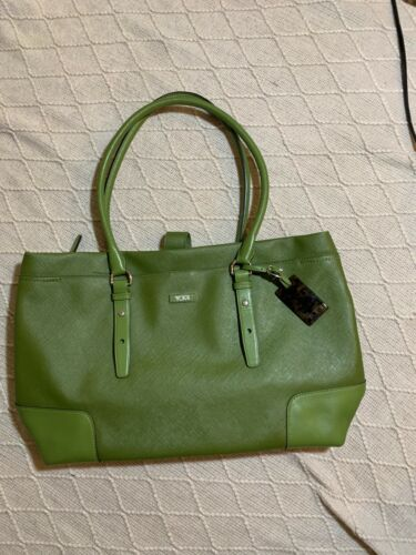 Tumi laptop tote bag green shoulder bag