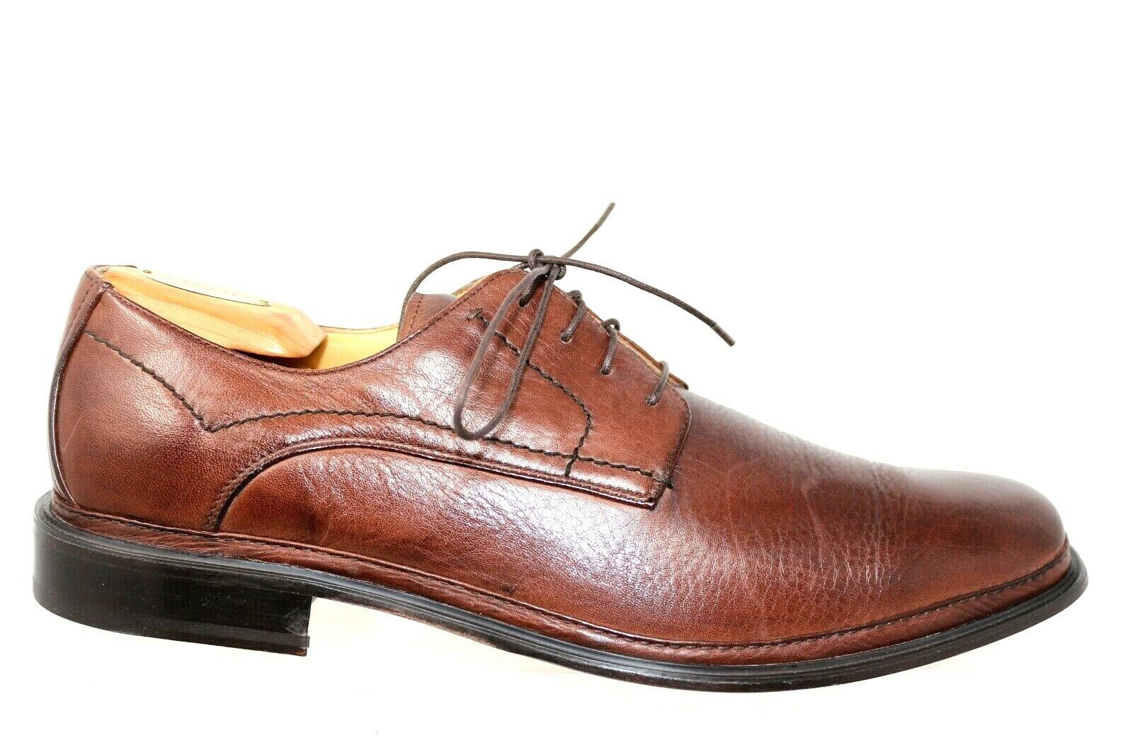 Brass Boot Brown Soft Leather Plain Toe Lace Up Leather Sole Oxfords Mens 13M