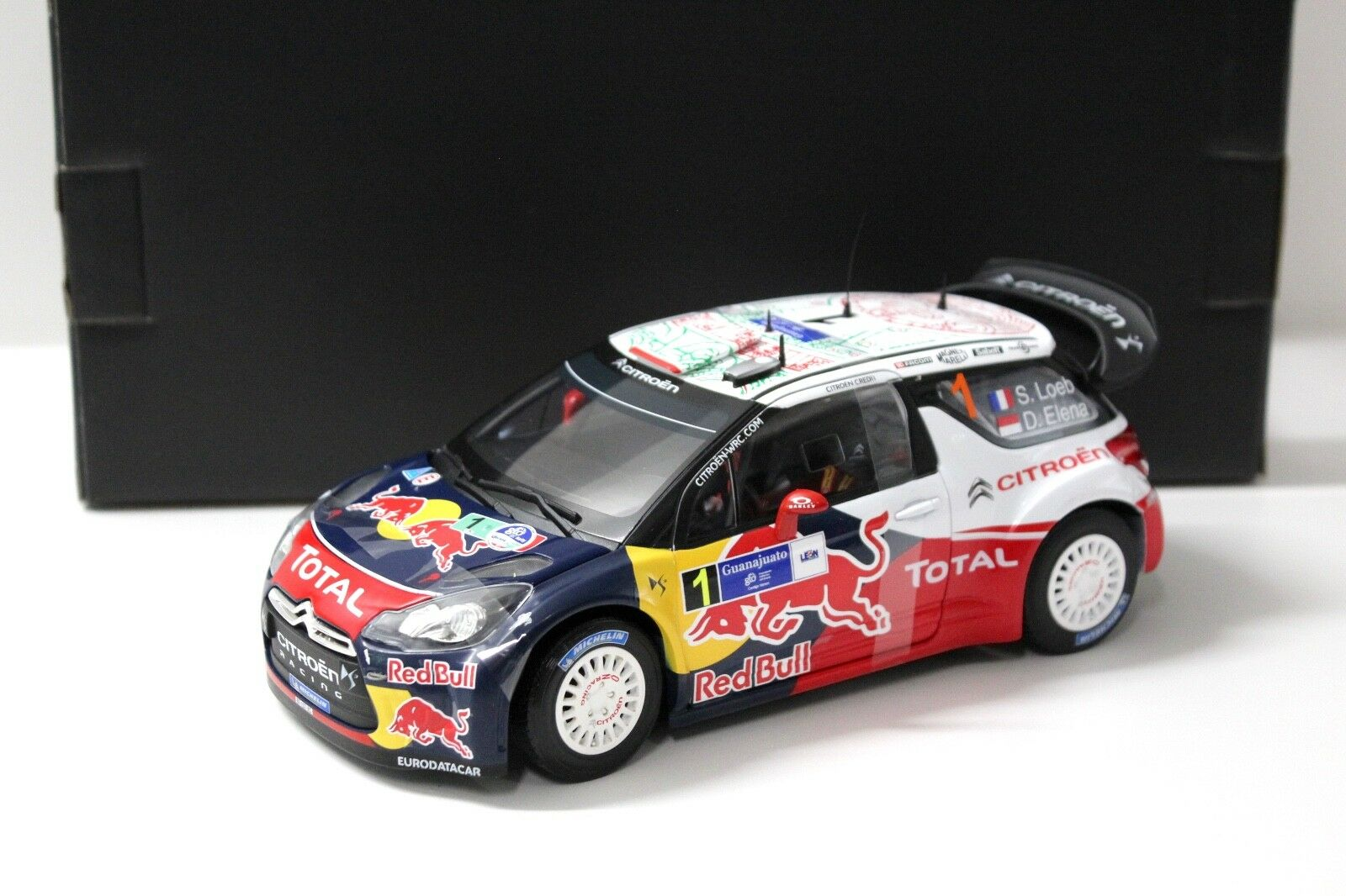 1 18 NOREV CITROEN DS3 Rally WRC Loeb Mexico 2011 NEW in Premium-modelcars