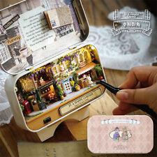 3D Doll House Box Theatre DIY Dollhouse Miniature Furniture Kit Retro Tin Box