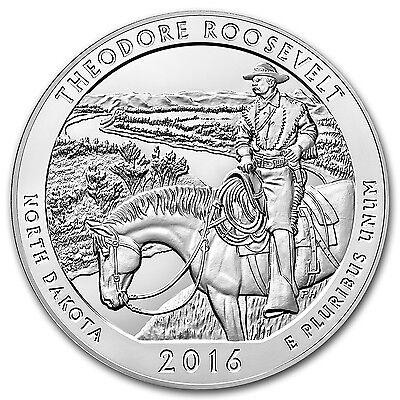 2016 5 oz Silver ATB Theodore Roosevelt National Park, ND - SKU #93726