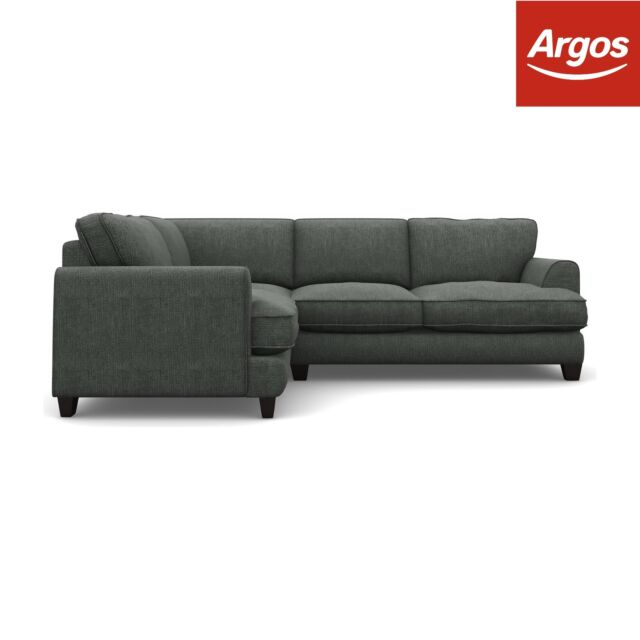 Argos Home Hampstead Fabric Left Corner Sofa - Pewter.