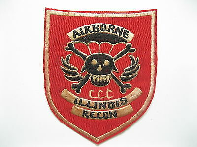 PATCH -  5th SFGrp MACV-SOG RT ILLINOIS CCC AIRBORNE RECON - 5th USSF - MACV SOG