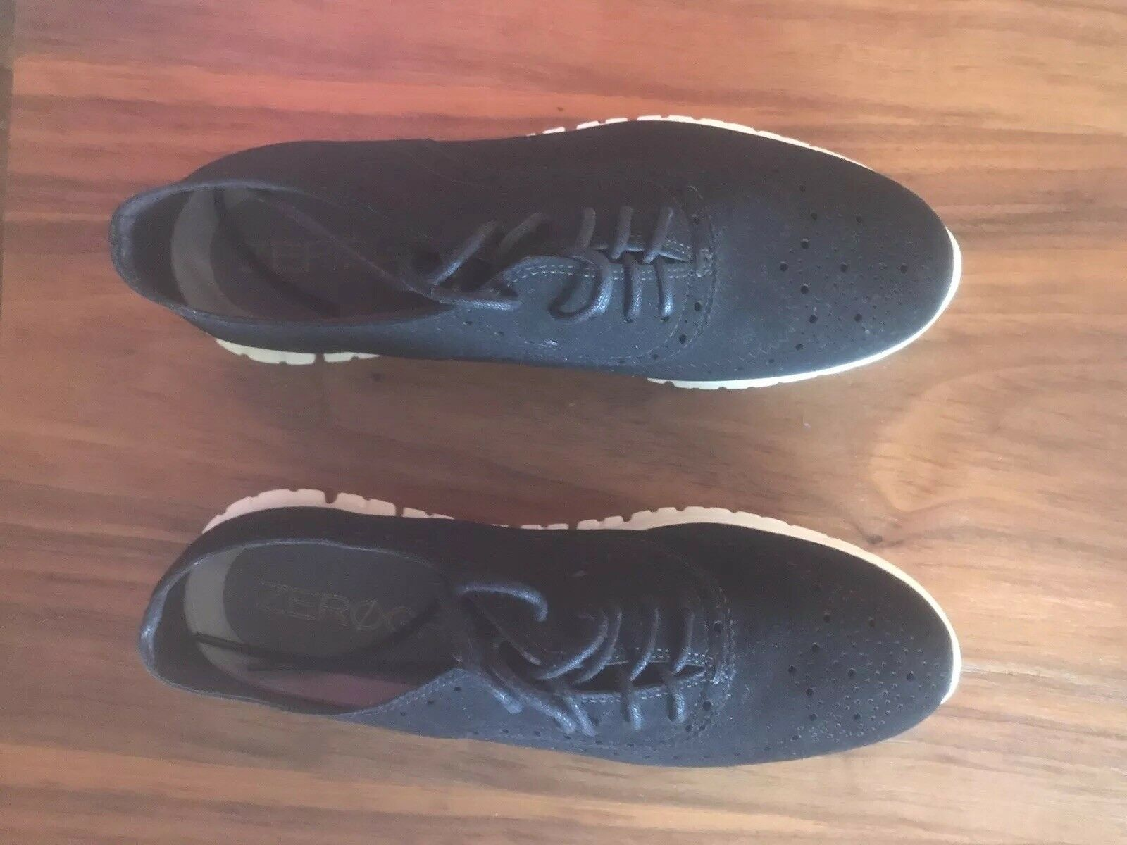 Cole Haan Zerogrand Wingtip Oxford Oxford Oxford Black Suede 8 D44060 53bbd9