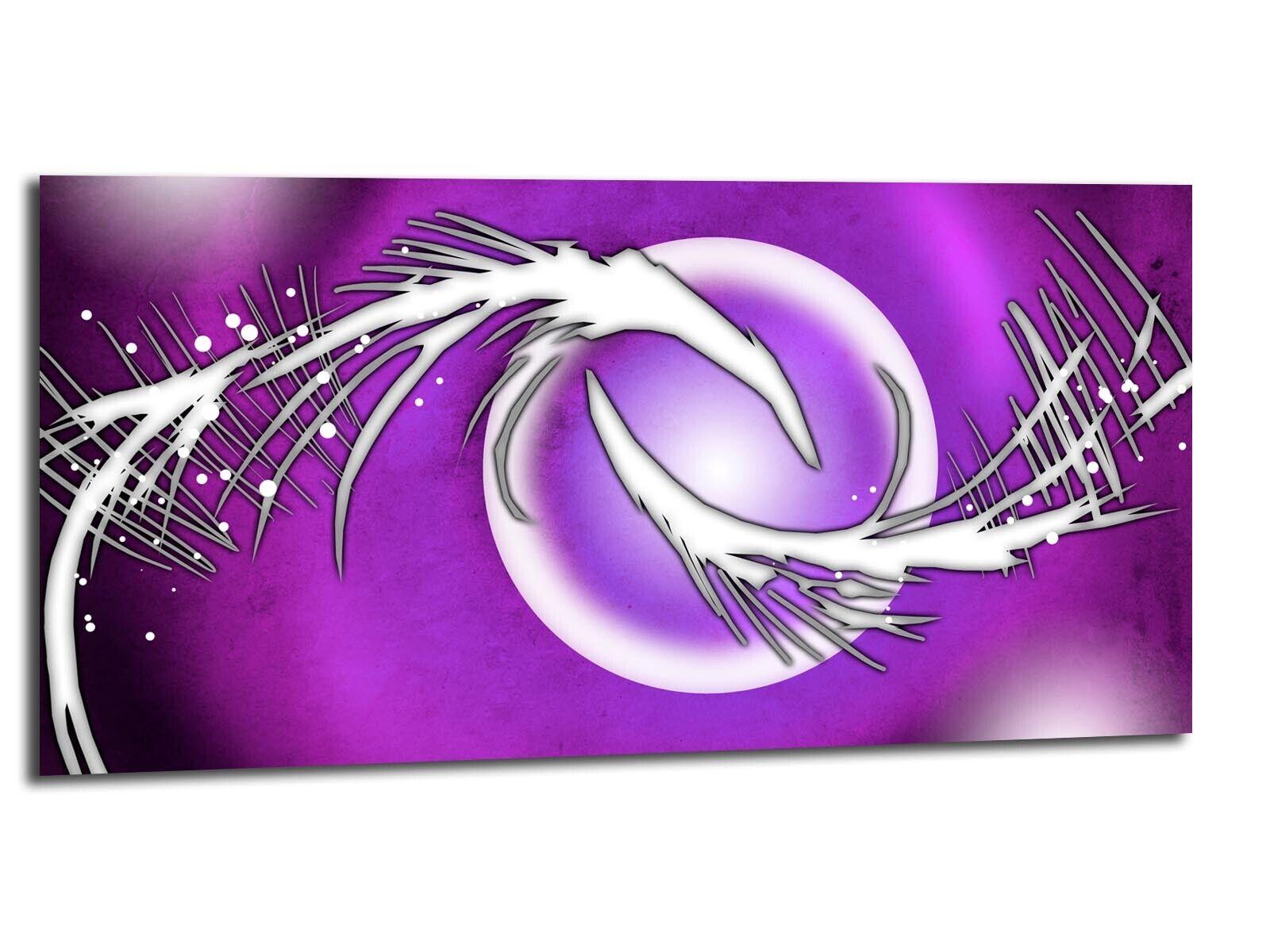 Alu-Dibond Bild ALU100501343 KUNST MODERN lila 100 x 50 cm Wandbild ABSTRAKT