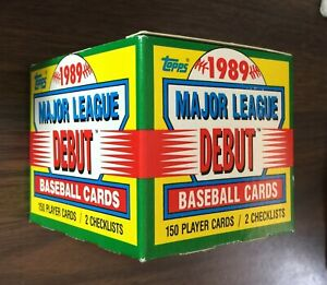1989-TOPPS-Major-League-DEBUT-Baseball-Cards-Set-152ct-UNOPENED-G7020712