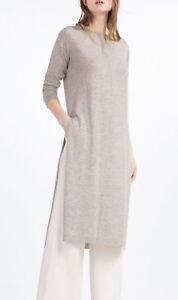 the best attitude 30f0b fb8b8 Detalles de Zara Long wool Knitted dress tunic lana larga soga vestido de  punto túnica túnica- ver título original