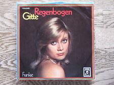 "GITTE - regenbogen SINGLE 7"""